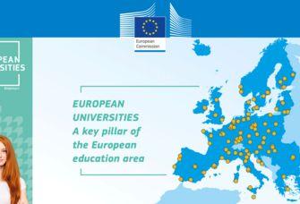 Die Grafik zeigt die Standorte von Universitäten, die sich in Europäischen Hochschulallianzen vernetzen.