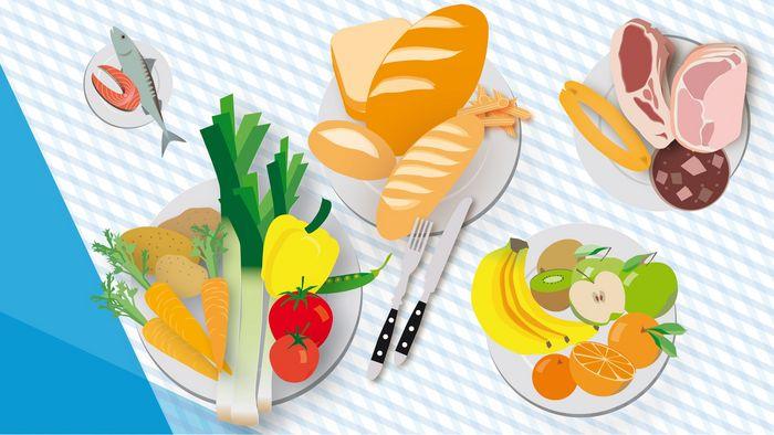 Infografik zu den Ernährungsgewohnheiten der Deutschen
