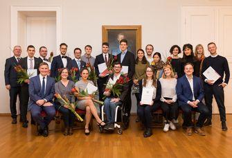 Preisträger und Vertreter der Jury des Jahres 2019 Foto: Thomas Rötting