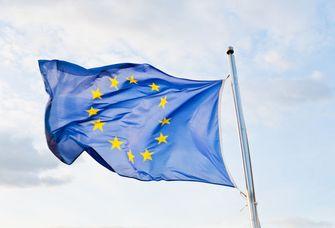 Eine Europa-Flagge weht im Wind, Foto: Colourbox