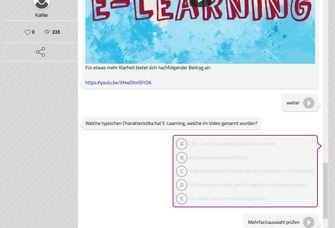"Bildschirmfoto der Software ""Learning Snacks"""
