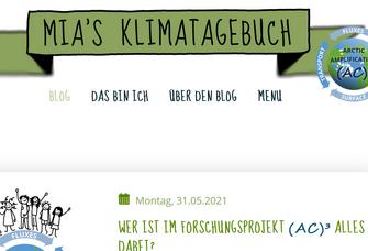 Screenshot Mias Klimatagebuch