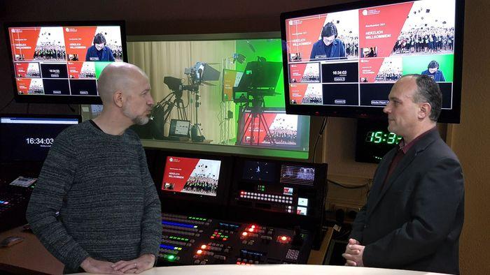 Ulf Walther von der Medienredaktion im Gespräch mit dem Geschäftsführer des ZMP, Volker Pankrath