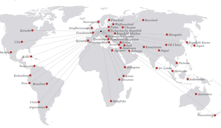 Global map showing our university partnerships.