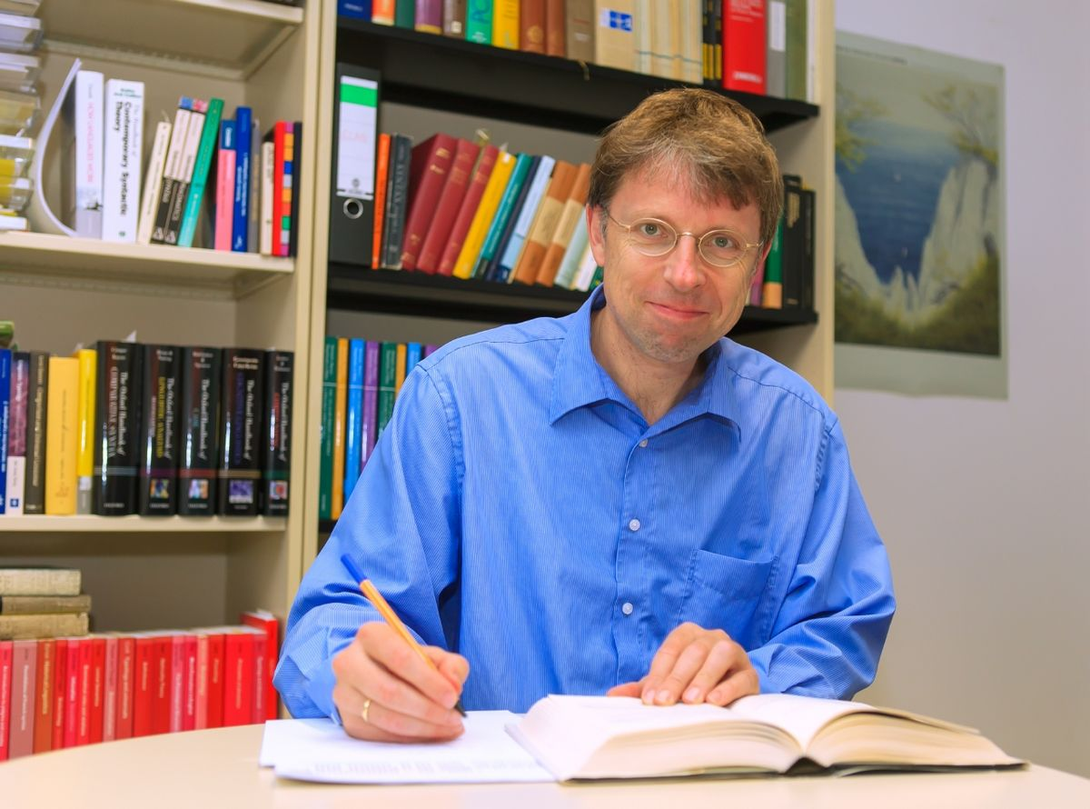 Professor Martin Haspelmath. Photo: Swen Reichhold