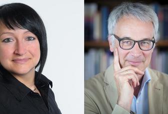 Af dem Bild sind Dr. Nadja Walter und Prof. Dr. Roderich Barth zu sehen.