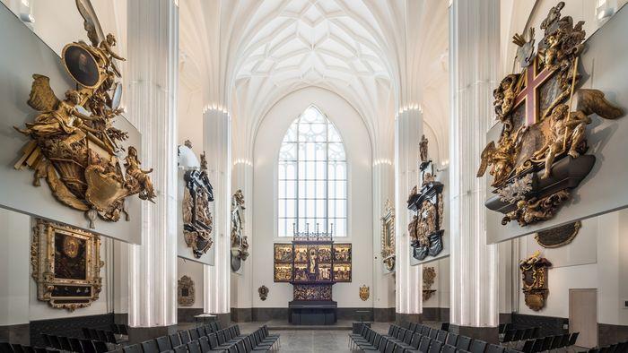 Blick ins Paulinum – Aula und Universitätskirche St. Pauli (Altarbereich). Foto: Kustodie der Universität Leipzig/Steffen Spitzner