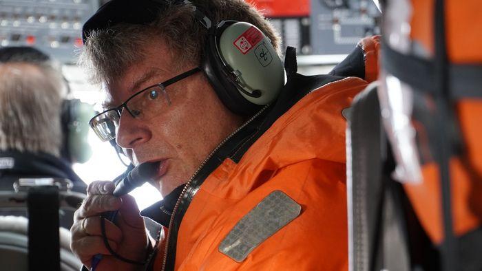 Manfred Wendisch (im Bild), Professor und Leiter des Leipziger Instituts für Meteorologie (LIM) der Universität Leipzig, war als stellvertretender Expeditionsleiter der Polarflieger in der Arktis dabei.