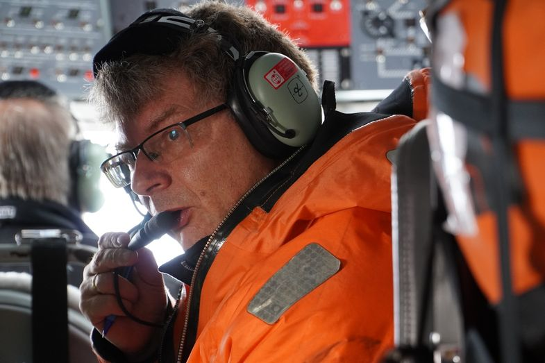 Professor Manfred Wendisch, head of the Institute for Meteorology at Leipzig University, was in the Arctic as deputy expedition leader for the polar aircraft.