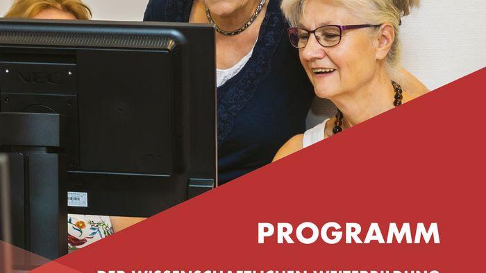 Titelseite der Programmbroschüre mit den Angeboten der Wissenschaftlichen Weiterbildung.