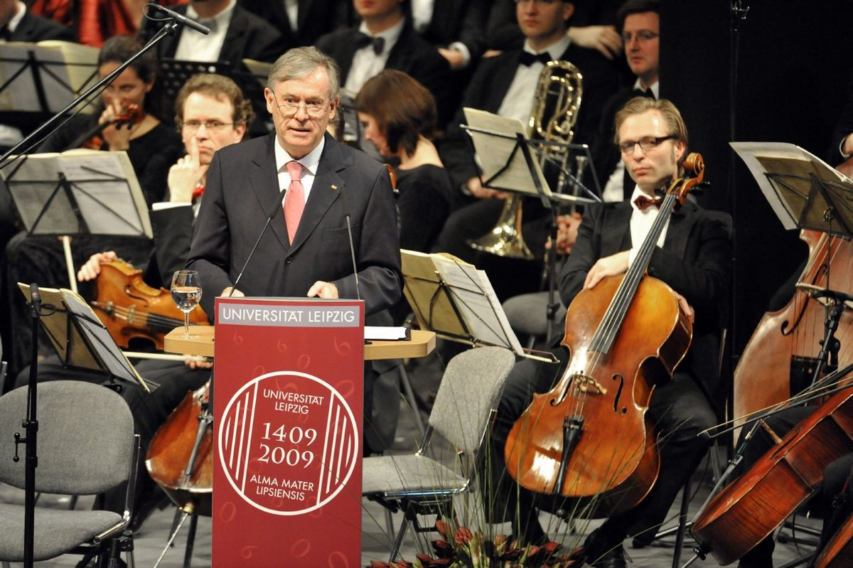 Federal President Horst Köhler during the celebrations of the 600th anniversary of the founding of Leipzig University. Photo: Volkmar Heinz