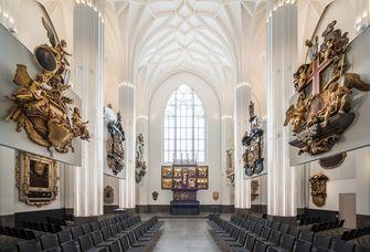Blick ins Paulinum – Aula und Universitätskirche St. Pauli (Altarbereich).