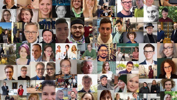 Fotos aller von Universität Leipzig und Universitätsgesellschaft ausgezeichneten Preisträgerinnen und Preisträger.
