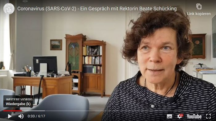 Rektorin Beate Schücking.