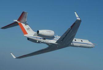 Das Forschungsflugzeug HALO.