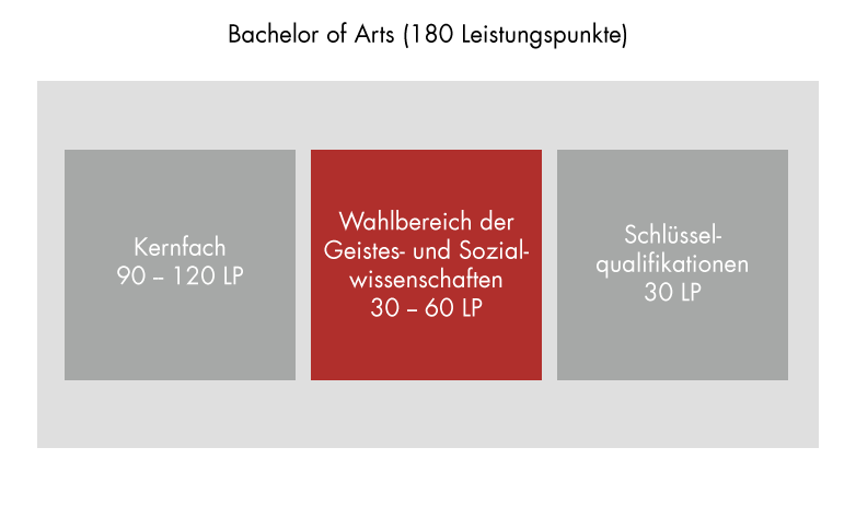 Programme structure: Elective area in the humanities and social sciences